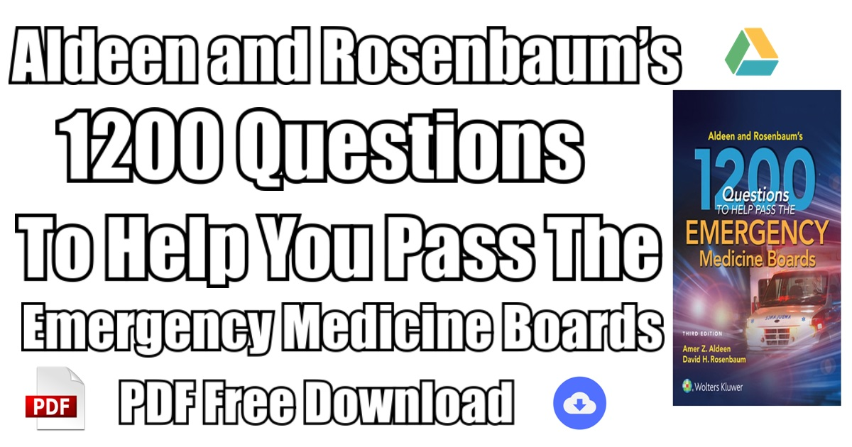 First aid for the emergency medicine boards 2e first aid series first aid for the orthopaedic boards array aldeen and rosenbaum u0027s 1200 questions to pass boards pdf free rh chancesforyouth com fandeluxe Choice Image