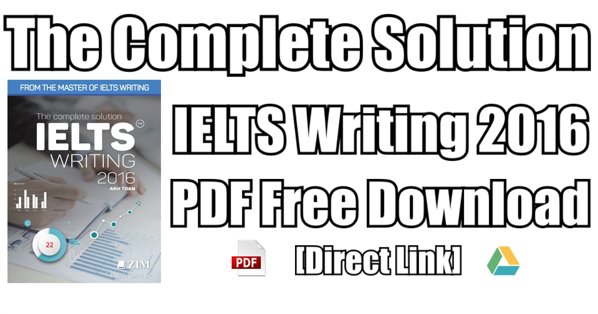 Complete Solution IELTS Writing 2016 PDF Free Download