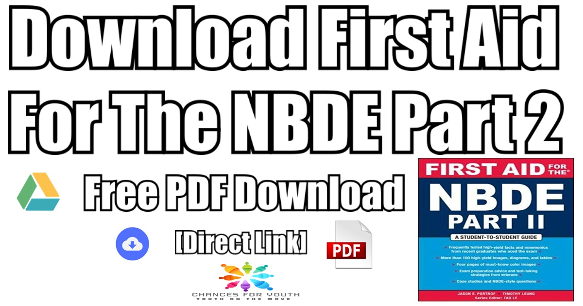 First Aid For The NBDE Part 2 PDF Free | [Direct Link] [PDF]