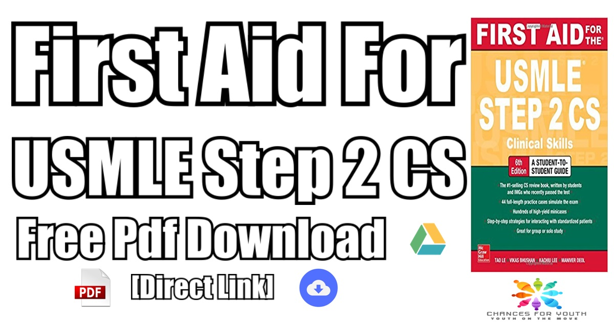 First Aid For The Usmle Step 2 Cs Sixth Edition Pdf Free Download