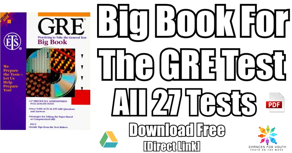 GRE Big Book PDF Free Download | Practice Questions ...