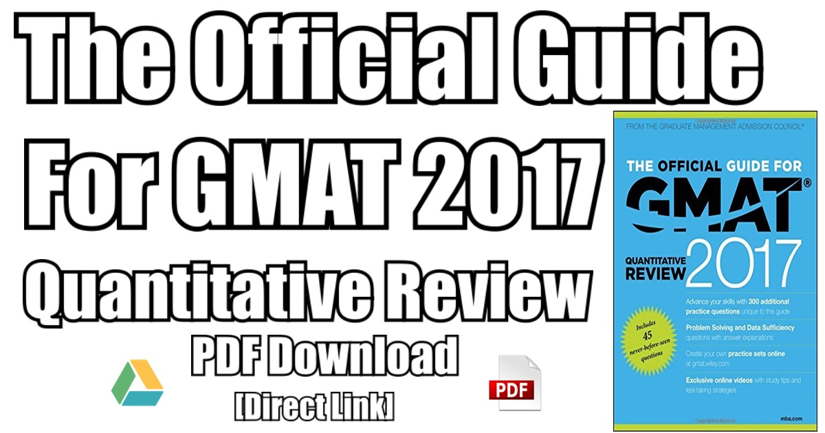 official guide for gmat 2017 pdf free download