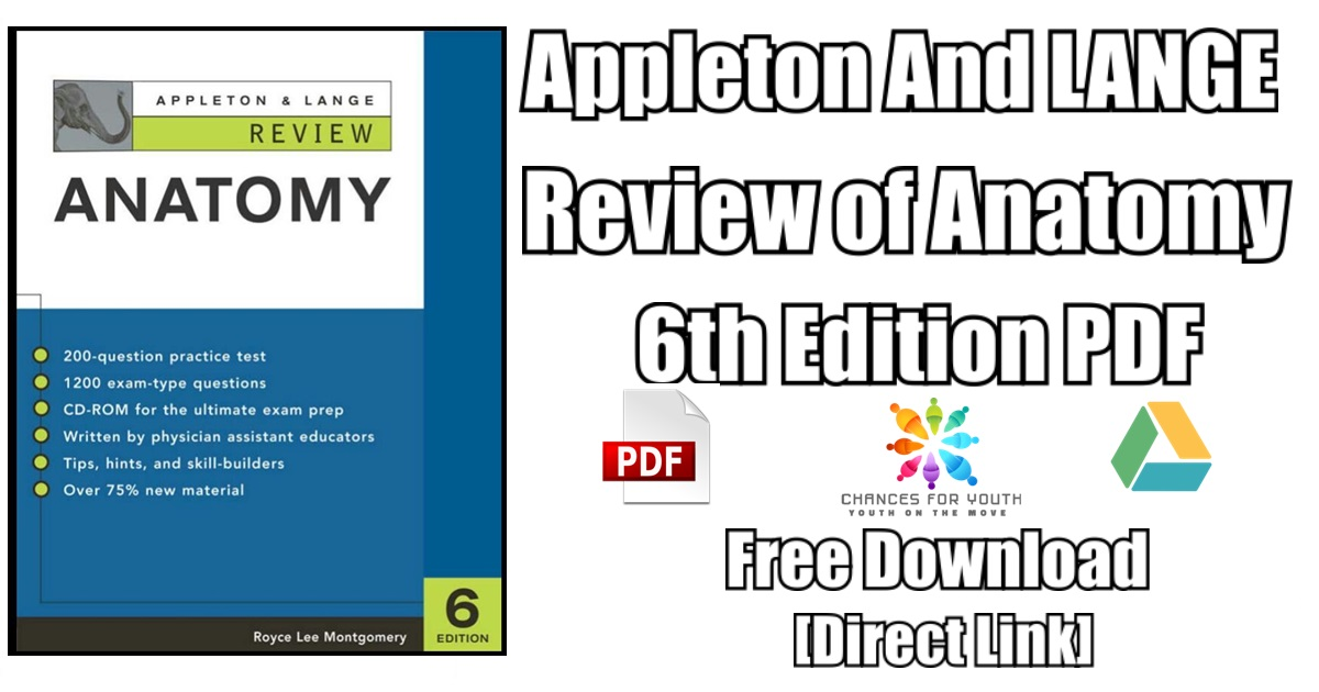 Appleton And LANGE Review of Anatomy 6th Edition PDF Free Download ...