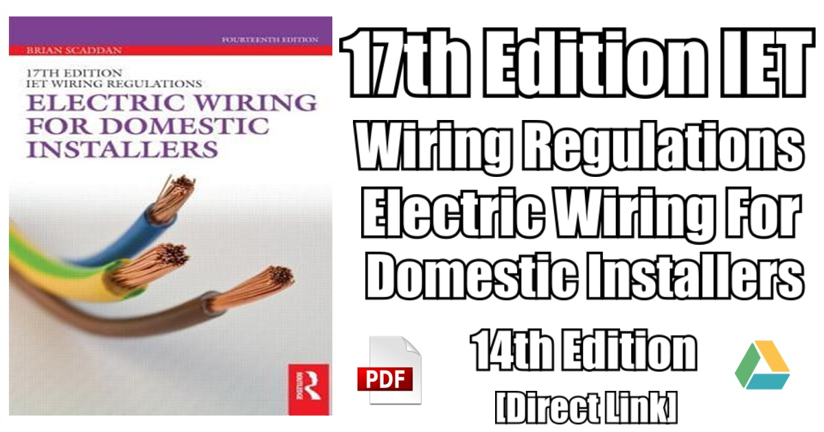 Electric Wiring for Domestic Installers 14th Edition PDF Free ...