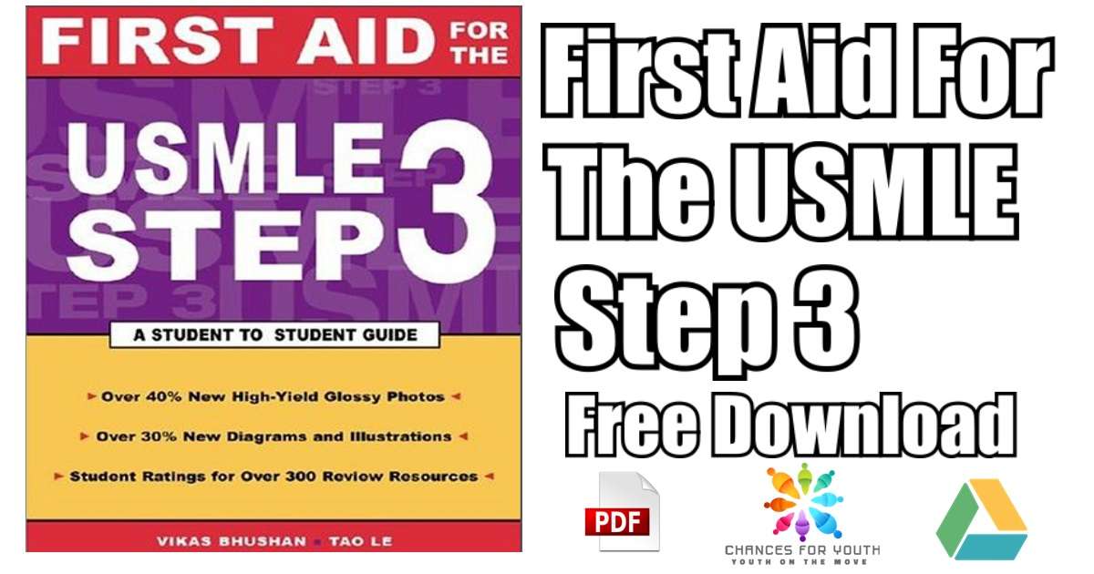 First Aid For The USMLE Step 3 PDF Free Download | [Direct Link]