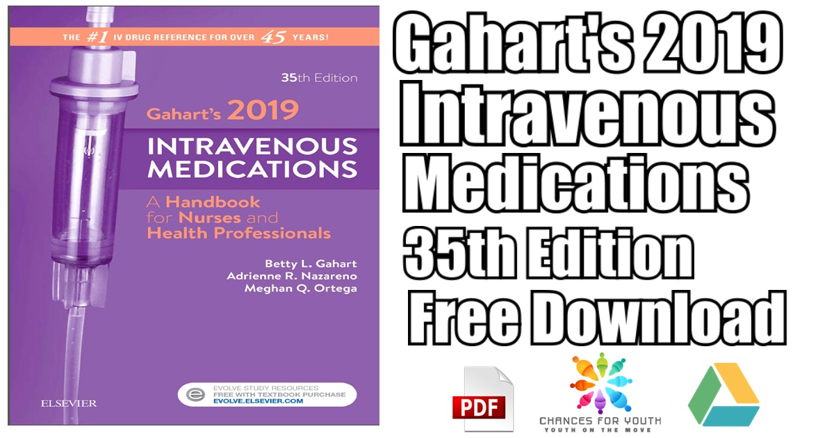 Gahart's 2019 Intravenous Medications 35th Edition PDF Free