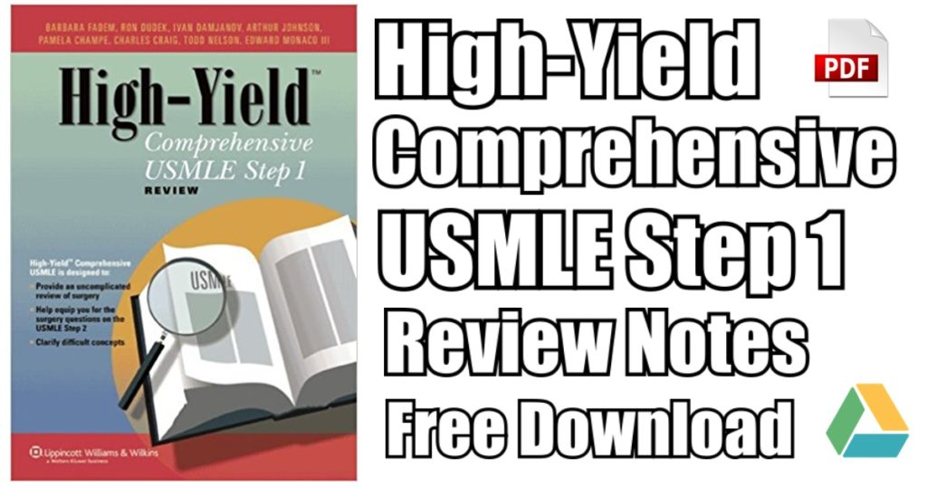 High-Yield Comprehensive USMLE Step 1 Review Notes PDF Free
