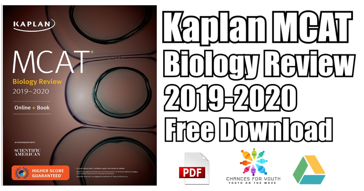 Kaplan Mcat Biology Review 2019 2020 Pdf Free Download