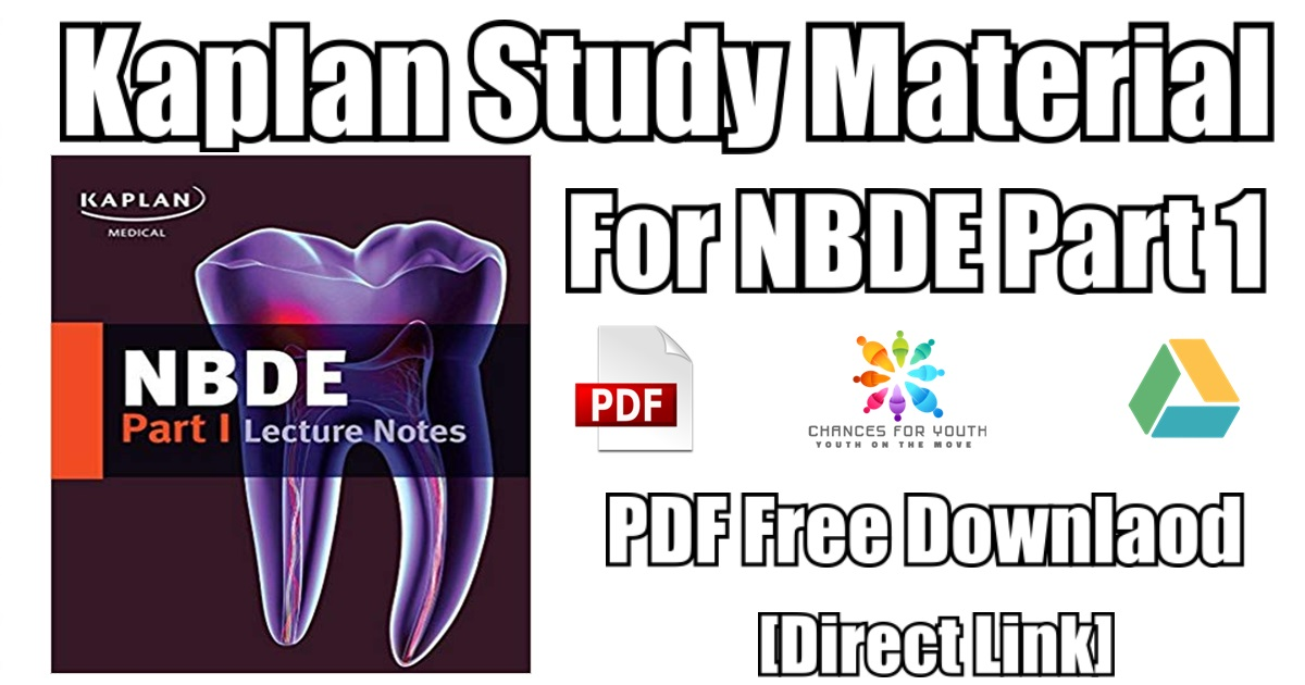 Kaplan Study Material For NBDE Part 1 PDF Free Download