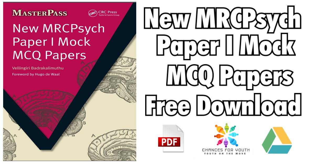 New MRCPsych Paper I Mock MCQ Papers PDF Free Download