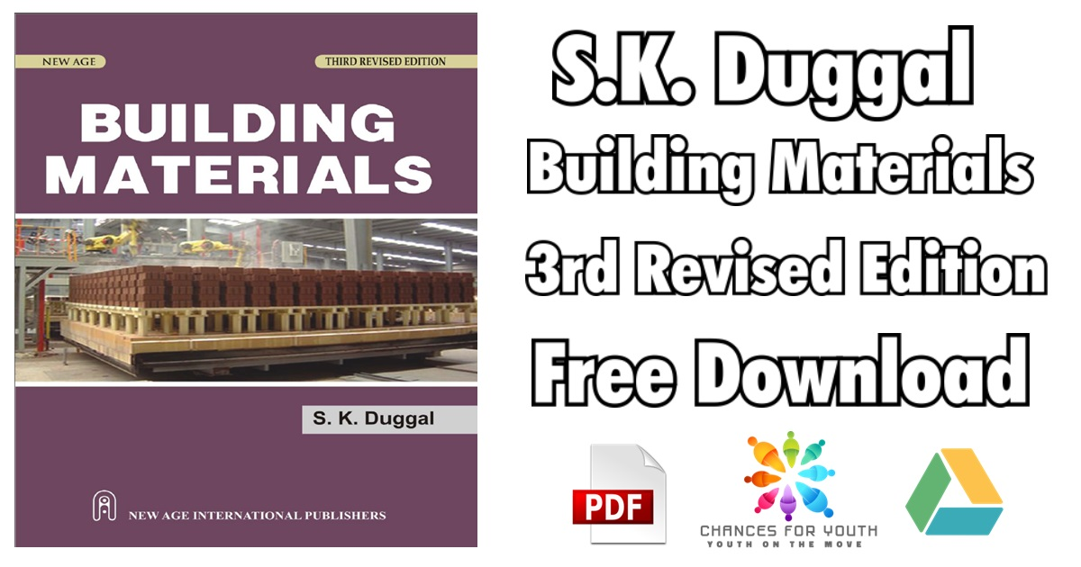 S.K. Duggal Building Materials 3rd Revised Edition PDF