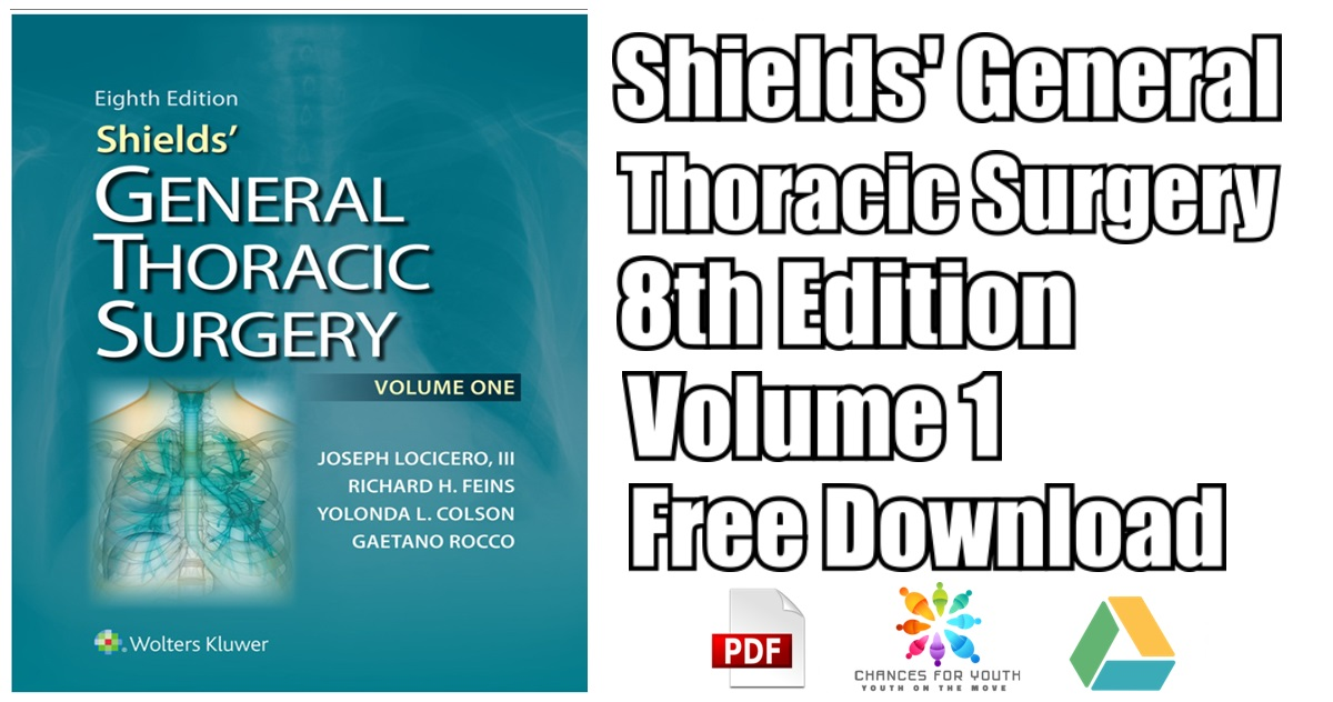 Shields General Thoracic Surgery 8th Edition PDF