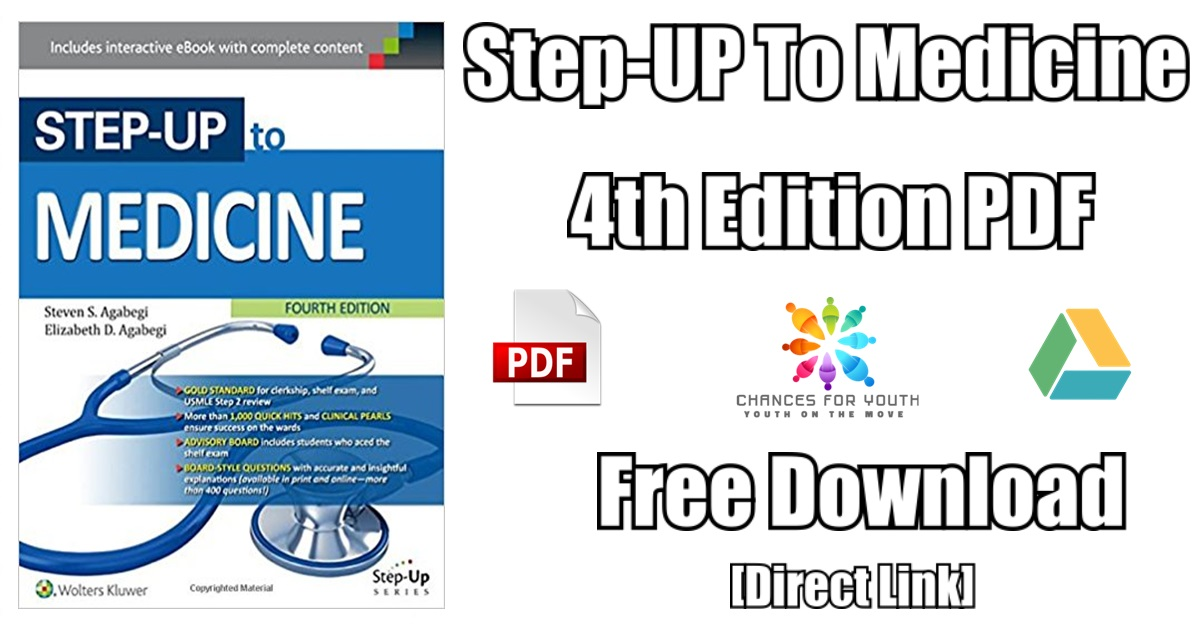 Step-Up to Medicine 4th Edition PDF Free Download | [PDF] [Direct Link]