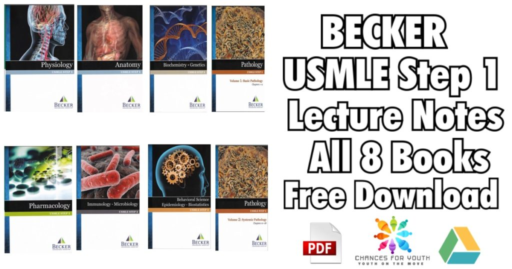 BECKER USMLE Step 1 Lecture Notes 8 Books PDF 1024x538 - BECKER USMLE Step 1 Books PDF Free Download [Set of Complete 8 Books]