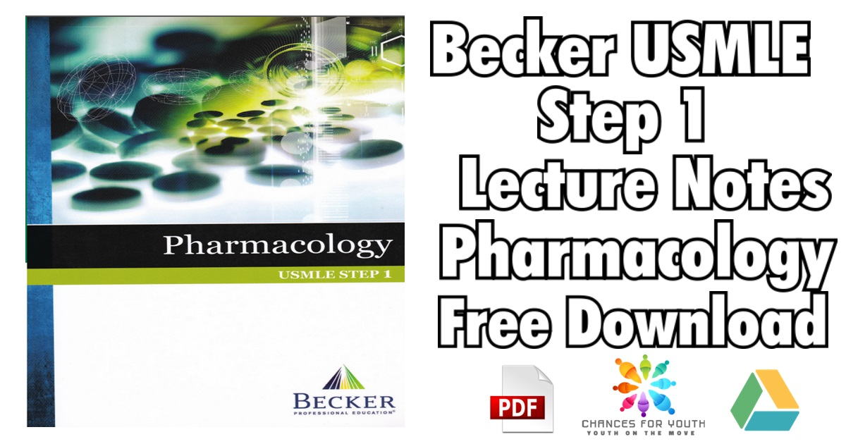 BECKER USMLE Step 1 Lecture Notes Pharmacology PDF