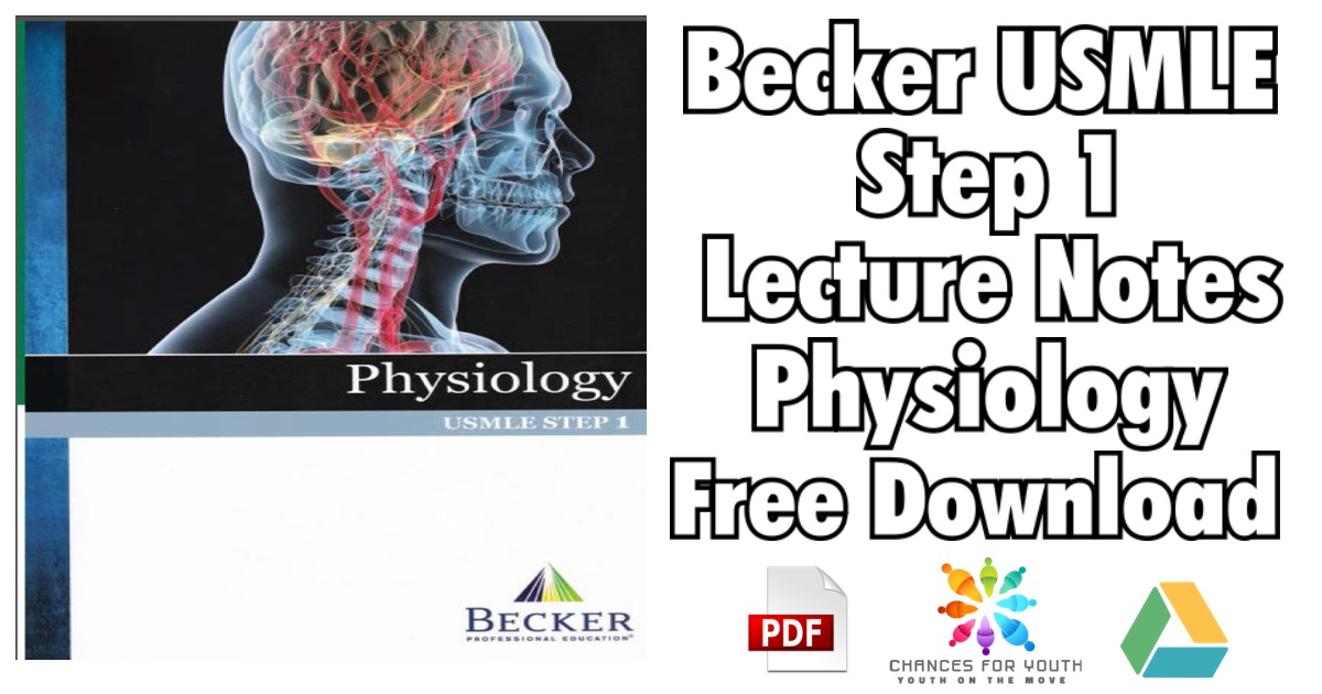 BECKER USMLE Step 1 Lecture Notes Physiology PDF