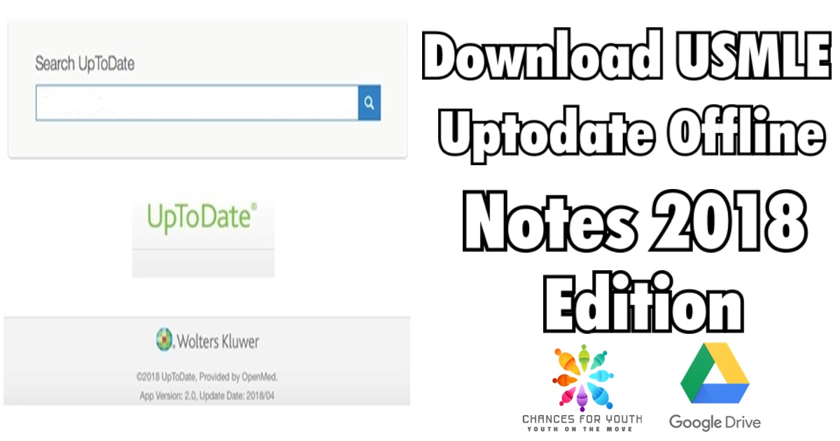 Download USMLE Uptodate Offline Notes 2018 Edition