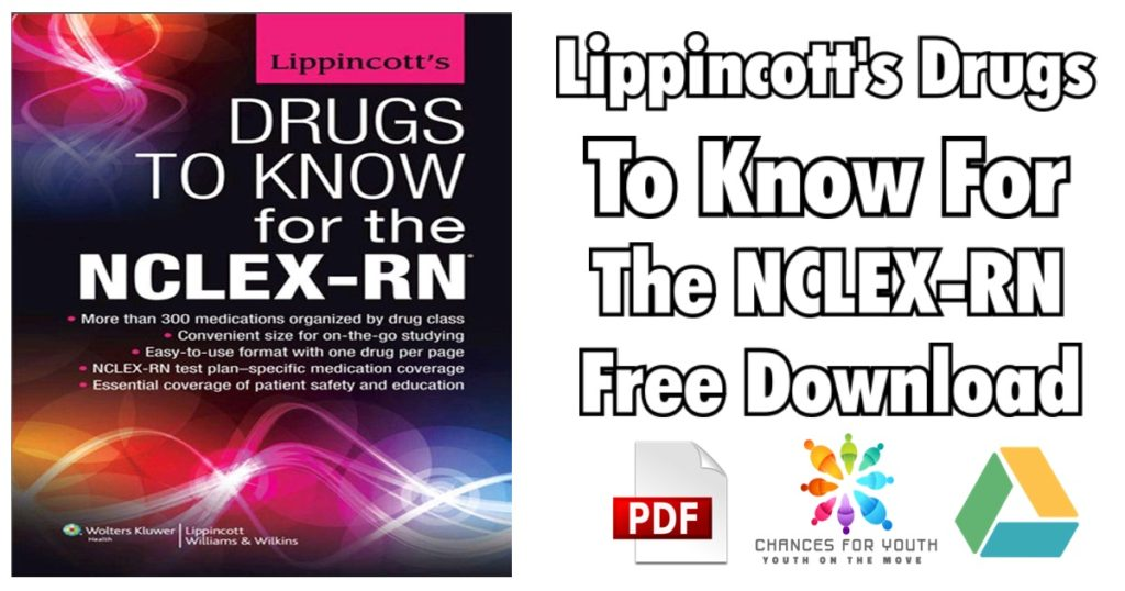 Lippincotts Drugs to Know for the NCLEX RN PDF 1024x538 - Lippincott's Photo Atlas of Medication Administration 2nd Edition PDF Free Download