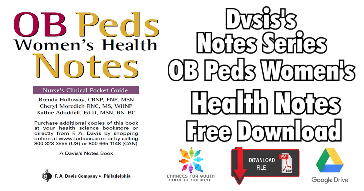 OB Peds Women's Health Notes PDF Free Download   Dvsis's