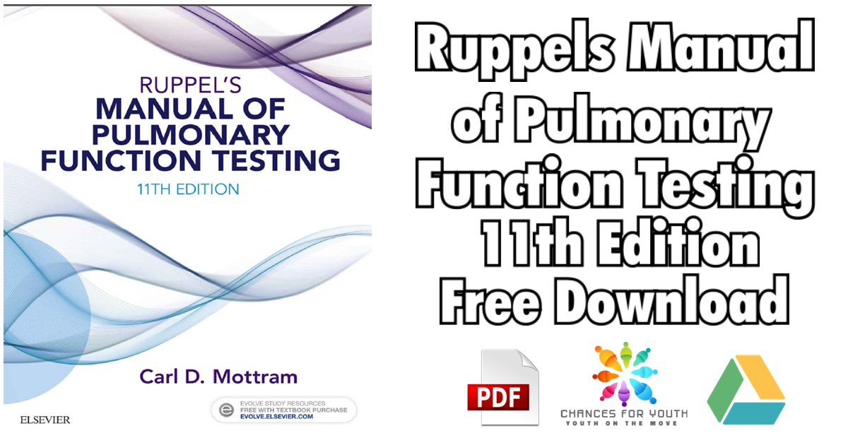 Ruppels Manual of Pulmonary Function Testing 11th Edition PDF