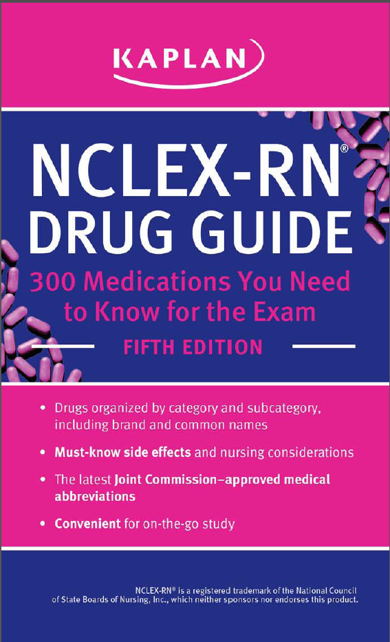 Screenshot 263 - Kaplan NCLEX-RN Drug Guide 5th Edition PDF Free Download | 300 Medications You Need to Know for the Exam