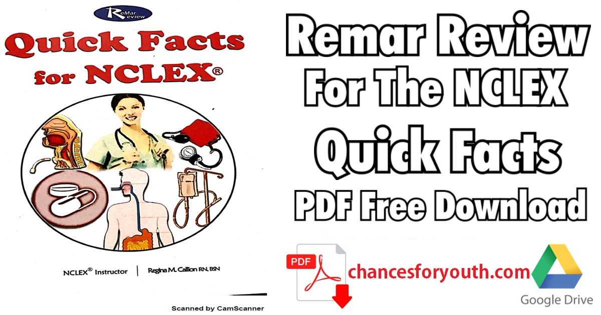 Remar Review Quick Facts PDF Free Download | Remar NCLEX Review