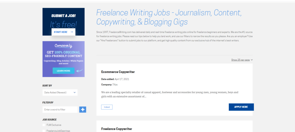 Freelance Writing 1024x460 - What are the best Paid Blogging Sites? | Best Blogging Sites